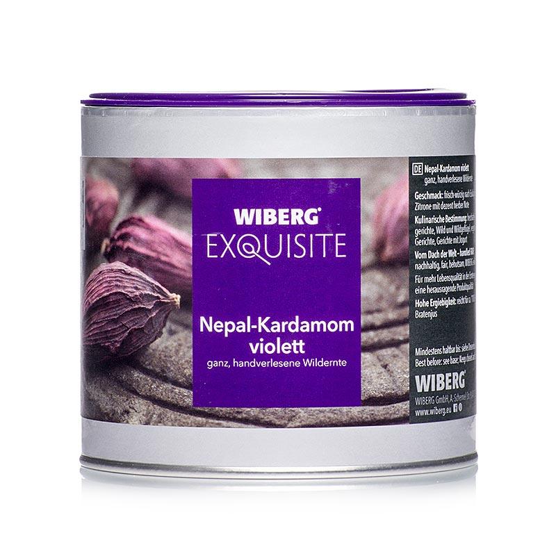 Wiberg Exquisite Nepal-Kardamom, violett, ganz, handverlersene Wildernte - 140 g - Aromabox