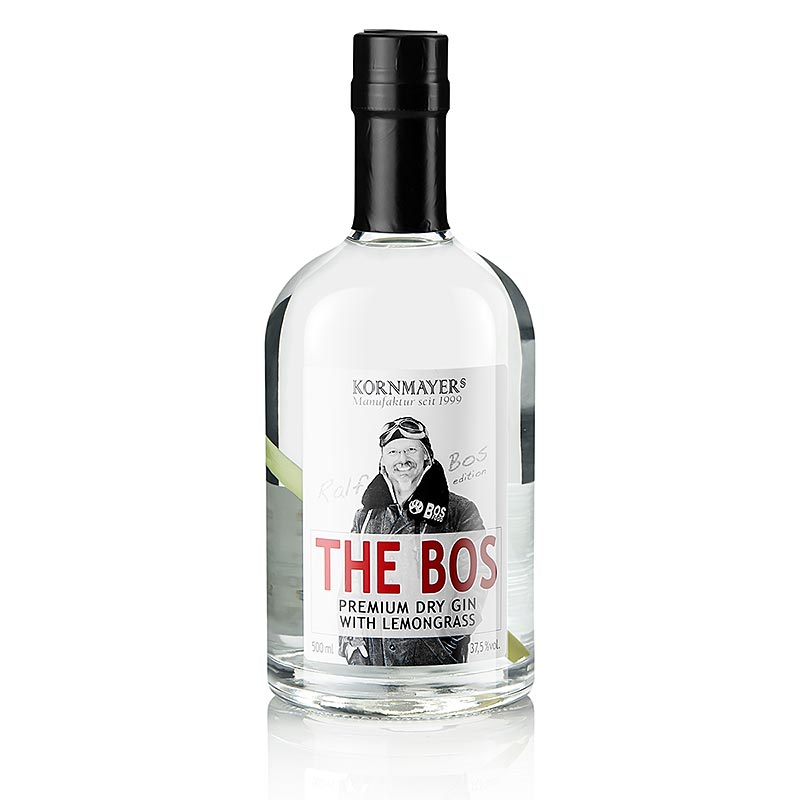 The Bos, Premium Dry Gin mit Lemongras, Ralf Bos Edition, 37,5% vol., Kornmayers - 500 ml - Flasche