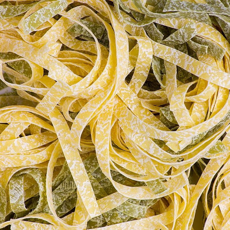 De Cecco Tagliatelle Paglia e Fieno, mit Ei und Spinat, grün/weiß, No.108 - 250 g - Tüte
