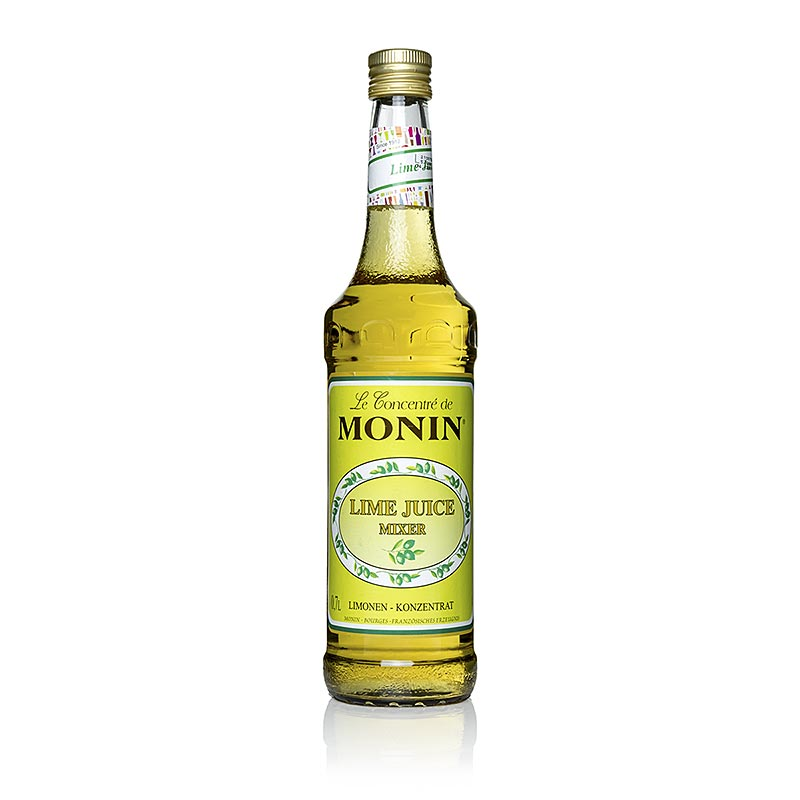 Lime Juice - Cordial Mixer, Limonensaft Monin - 700 ml - Flasche