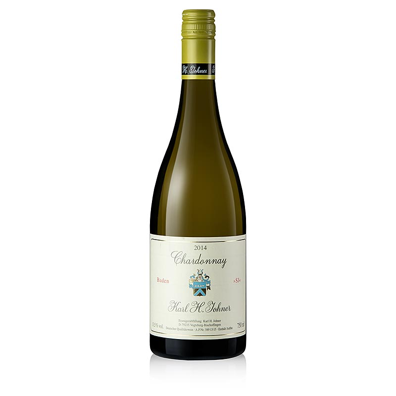 2014er Selektion Johner, Chardonnay, Barrique, trocken, 13,5% vol., Johner - 750 ml - Flaschen